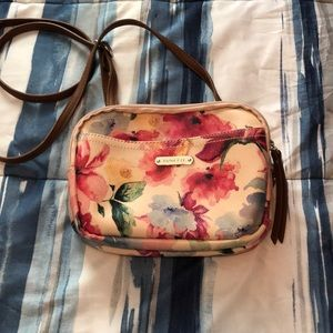 Small floral cross body purse